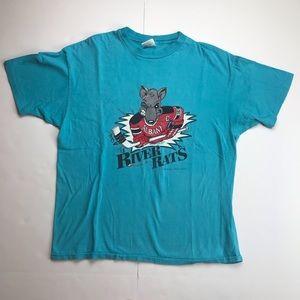 VTG 1993 Albany River Rats Hockey Single Stitch